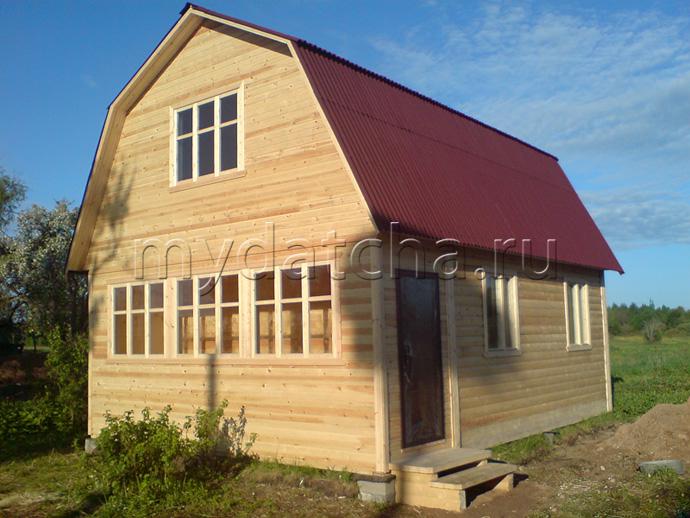 Дом из бруса 6х8 (Д1)