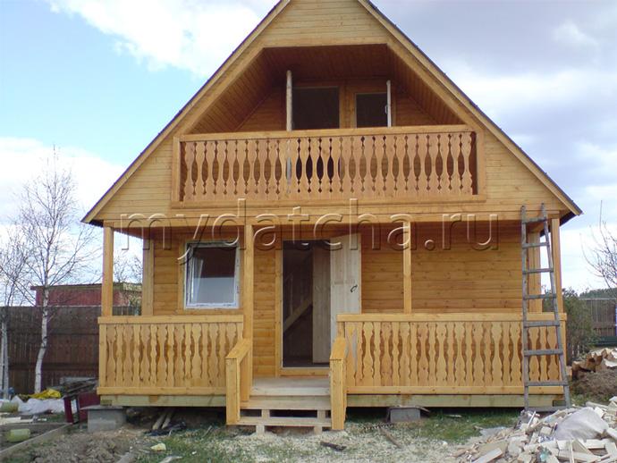 Дом из бруса 6х8 (Д2)