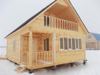 Дом из бруса 6х8 (Д24)