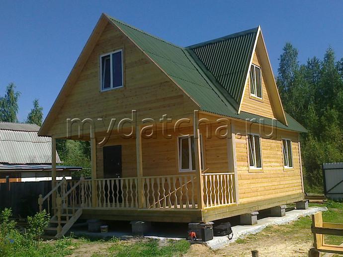 Дом из бруса 6х8 (Д28)