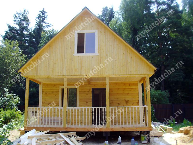 Строительство дома из бруса 8 на 6 с мансардой своими руками 24