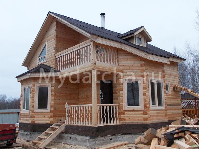 Дом из бруса 7,8х7,8