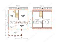 Дом из бруса 6х6 (Д14)