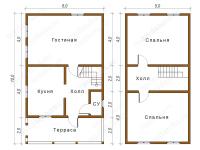 Дом из бруса 6х10 (Д15)
