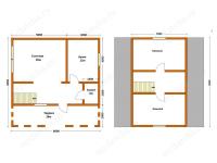 Дом из бруса 8х8 (Д20)