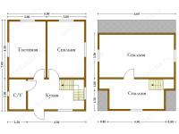 Дом из бруса 6х7 (Д30)