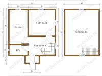 Дом из бруса 6х6 (Д45)