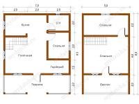 Дом из бруса 7х8,5 (Д49)