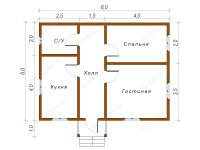 Дом из бруса 6х8 (Д56)