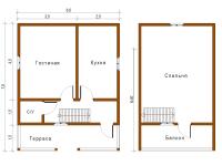 Дом из бруса 6х7,5 (Д12)