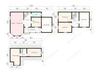 Дом из бруса 7х12 (Д13)