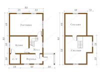 Дом из бруса 6х9 (Д5)