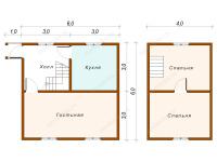 Дом из бруса 6х6 (Д7)