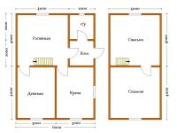 Дом из бруса 6х8 (Д9)