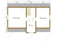 Дом из бруса 8х9 (Д36)