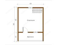 Дом из бруса 6х6 (Д44)