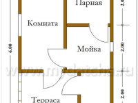 Баня из бруса 4х6 (Б37)