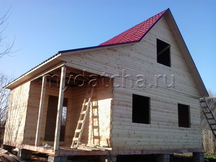Дом из бруса 6х8 (ДУ23)