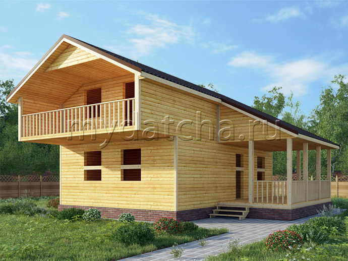 Дом из бруса 9×9 (ДУ2)