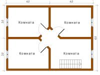 Дом из бруса 6х8 (ДУ9)