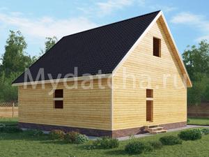 Дом из бруса 8х8 (ДУ11)