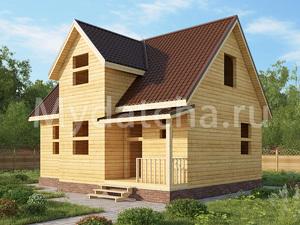 Дом из бруса 7х9 (ДУ15)