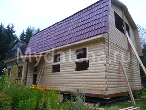Дом из бруса 6х8 (ДУ26)