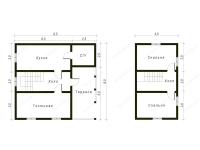 Дом из бруса 8х8,5 (ДУ3)