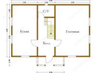 Дом из бруса 6х9 (ДУ18)