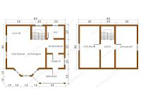 Дом из бруса 8х8 (ДУ10)