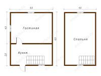 Дом из бруса 6х6 (ДУ17)