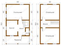 Дом из бруса 6х10 (ДУ21)