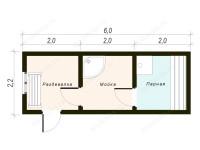 Баня 6х2,2 «Миус»