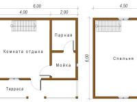 Баня из бруса 6х6 (Б50)