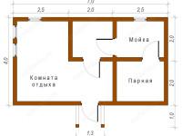 Баня из бруса 4х7 (Б53)