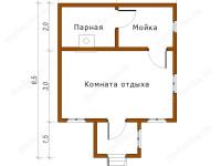 Баня из бруса 5х6,5 (Б54)