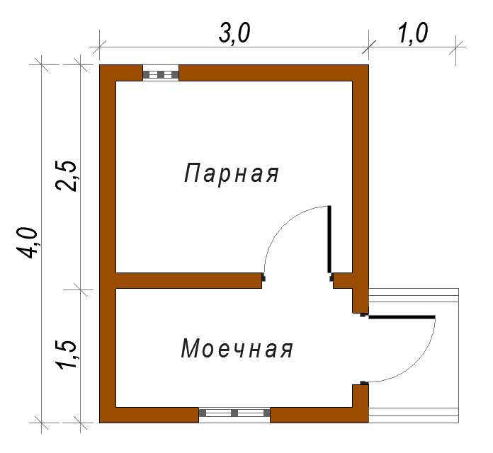 Баня своими руками проекты планировка 3х4 42