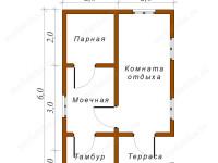 Баня из бруса 4х6 (Б45)