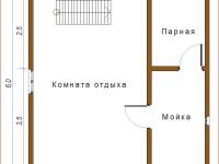 Баня из бруса 6х6 (Б20)