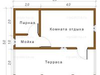 Баня из бруса 5х6 (Б36)