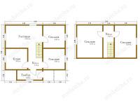 Дом из бруса 7х8 (Агата)