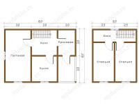 Дом из бруса 6х8 (Фриско)