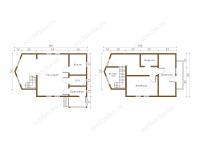 Дом из бруса 6х10 (Коди)