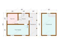 Дом из бруса 6х8 (Руза)