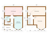 Дом из бруса 6х7,5 (Хоста)