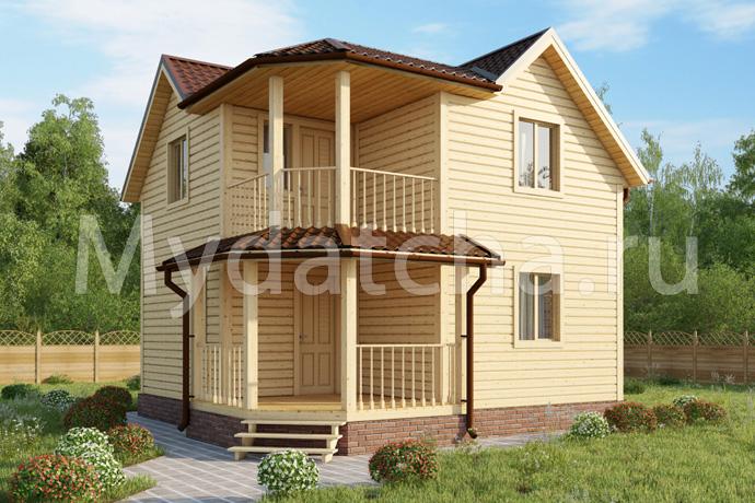 Дом из бруса 6,5х6,5 (Бийск)