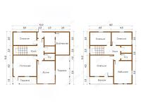 Дом из бруса 11х12 (Д68)