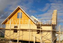 Строительство дома 9х9 из бруса 1