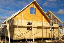 Строительство дома 9х9 из бруса 3