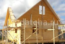 Строительство дома 9х9 из бруса 2